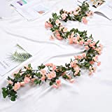 HASTHIP 1 Pack 70inch Artificial Flower Hanging Rose Flower Ivy Garland Artificial Rose Garland Home Party Garden 69 Small Ro