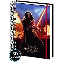 """Cuaderno de Notas con Portada 3D Star Wars: Episodio VII - The Force Awakens/ El Despertar de la Fuerza """"Kylo Ren"""""""