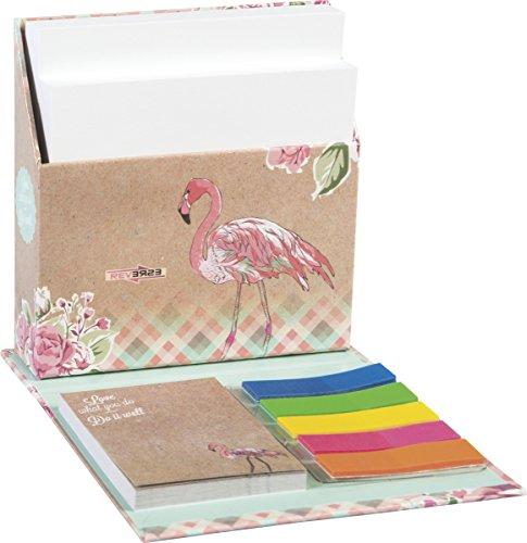 Brunnen Zettelbox Haftnotizen RVS Flamingo