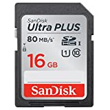 SanDisk Ultra PLUS 16GB SDHC Class 10 UHS-1 Memory Card - speed up to 48 MB/s