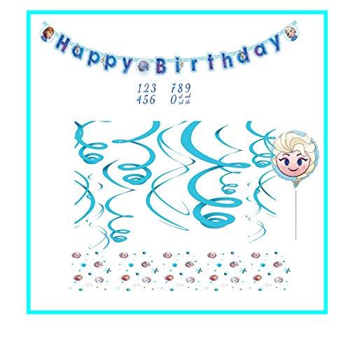 Amscan Inc.. Disney Frozen Geburtstag Dekoration Set // Partykette, Konfetti, Folienballon, Spiralen (Frozen Dekorationen Disney Geburtstag)