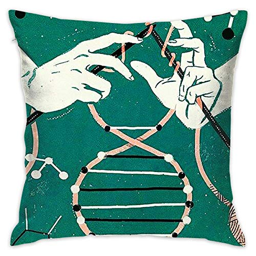 Knit DNA Throw Pillow Cases Square Cushion Cover for Cars Sofa Bars Home Decorative 18x18 Pillowcase -