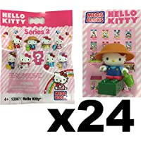 Hello Kitty Megabloks Series 2 Collectable Figure Blind Bag Party Favour Gift Sealed Bundle of 24