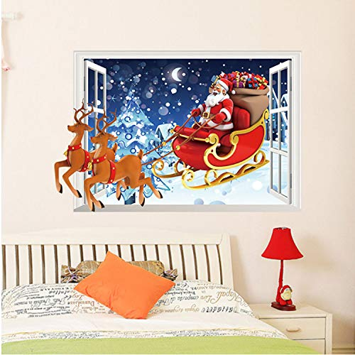 Asade Christmas Bells Removable Wall Sticker Adornment Wall Glass Window Wall Stickers Home Room Decor Wall Stickers