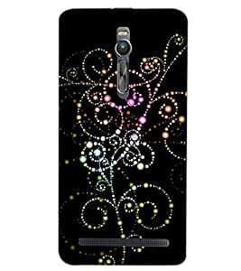 PrintDhaba PATTERN D-6120 Back Case Cover for ASUS ZENFONE 2 (Multi-Coloured)