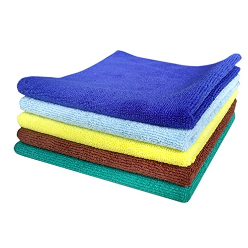 Happy Homes Premium microfiber cloth and towel - Set of 1 - (350 GSM - 40 CM X 40 CM) for Car cleaning, Kitchen cleaning, Floor cleaning and Home cleaning. (1)  available at amazon for Rs.120