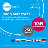 Lebara Talk/Surf Paket monatlich kündbar SIM (Standard/Micro, 500MB High-Speed Internet)