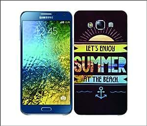 Galaxy Printed 2887 Summer Beach Hard Cover for Samsung A7