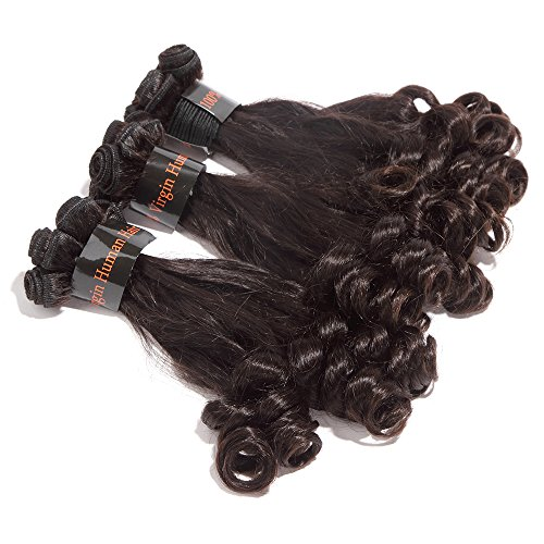 Printemps Extensions de cheveux brésiliens vierges Frisés tissage Boucles Cheveux Extensions capillaires 100% cheveux humains Couleur Noir Naturel