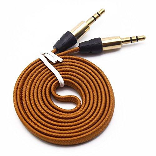 Interesting® 1M starke geflochten 3,5 mm männlich, männliche Auto Aux Audio Kabel für iPhone Handy Sony Heim-lautsprecher