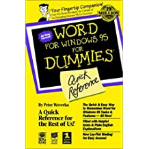 Word for Windows 95 for Dummies: Quick Reference (For Dummies Series)