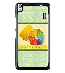 PrintDhaba Colourful Leamon D-3778 Back Case Cover for LENOVO K3 NOTE (Multi-Coloured)