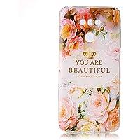 Cozy Hut LG G6 Hülle Case, Liquid Crystal Ultra Dünn Crystal Clear Transparent Handyhülle Cover Soft Premium-TPU Durchsichtige Schutzhülle Backcover Slimcase für LG G6 - Rosen