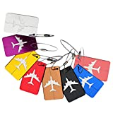BearHoHo Metal Luggage Tags Suitcase Labels Accessories,Travel ID Bag Tag Airlines Baggage Labels- Set of 9