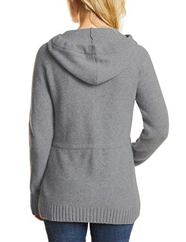 Cecil Damen Strickjacke Grau (Middle Grey Melange 10733)