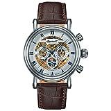Ingersoll Herren Analog Automatik Uhr mit Leder Armband IN2716WH