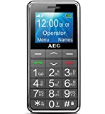 """AEG Großtasten Handy, Simlock frei mit 1.8"""" LCD-Display, Notruffunktion & Taschenlampe - Voxtel M250 - Schwarz"""