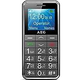 AEG Téléphone Portable Débloqué avec Grandes Touches - Voxtel M250 - Noir