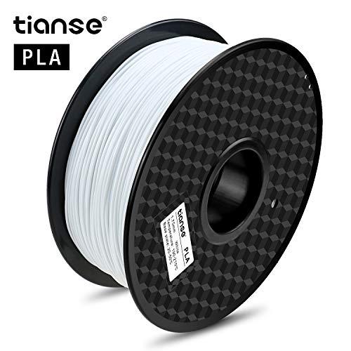 TIANSE Bianco Filamento PLA per stampanti 3D /penne 3D, 1,75 mm, precisione dimensionale +/- 0,03 mm (2,2 lbs.)