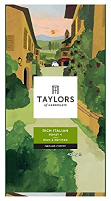 Taylors of Harrogate Rich Italian Ground Coffee 454 g (Pack of 4)
