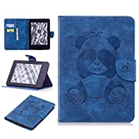 DENDICO Kindle Paperwhite Leather Flip Notebook Style Case e-Book Reader Cover [Stand Function] [Magnetic Closure] [Card Slots] Slim WeightLight Protective Case for Amazon Kindle Paperwhite - Blue