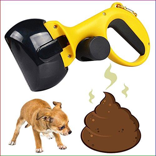 Compacto Perro Pooper Scooper Con Jumbo Garras Mascota Residuos de Limpieza,Durable Plástico Con Amplia Confort Grip Mango -A