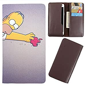 DooDa - For Karbonn A27+ PU Leather Designer Fashionable Fancy Case Cover Pouch With Card & Cash Slots & Smooth Inner Velvet