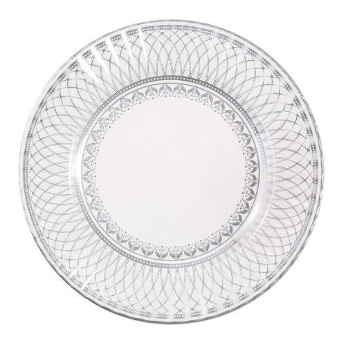 Talking Tables Party Porcelain Große Pappteller mit elegantem Silbermuster für Weihnachten, Geburtstage, Hochzeiten, Jubiläumsfeiern und Partys, 28 cm (8 Stück in 1 Design)
