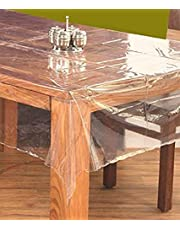 Kuber Industries™ .20 mm PVC Transparent Clear Center Table Cover Tablecloth Waterproof Protector, 4 Seater, 40 * 60 Inches Rectangle(Without Laced Edges) DTC11