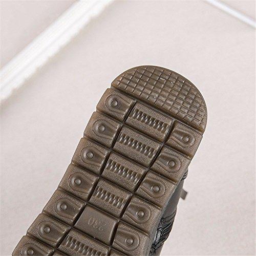 Hxvu56546 Nueva Moda Zapatos De Invierno Moda Acolchada Algodón Antideslizante Placa Para El Calor Negro