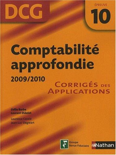 COMPTABILITE APPROF EPR 10 COR par ODILE BARBE, LAURENT DIDELOT, LAURENCE CASSIO, JEAN-LUC SIEGWART