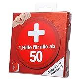 Geschenkschachtel zum 50. Geburtstag 1. Hilfe, 10,5 x 10,5 x 1,5 cm