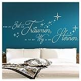 Wandaro Wandtattoo Zitat Nimm dir Zeit zum Träumen I grün (BxH) 140 x 58 cm I Weg zu Sternen Schlafzimmer Aufkleber Wandsticker Wandaufkleber Sticker W3294