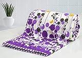 #5: AURAVE Purple & Yellow Flora Designer 1 Pc Combed Cotton AC Dohar - Double Bed Size