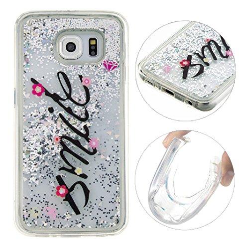 Samsung Galaxy S6 Custodia, Moon mood® Bumper per Samsung S6, Galaxy S6 TPU Custodia, Cover (Doppio Glitter)