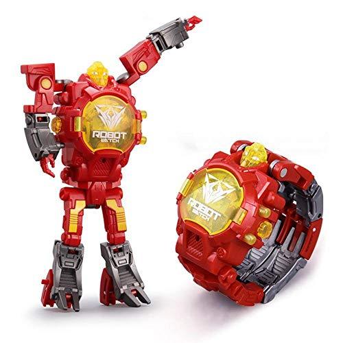 UMIWE Jouet Montre Transformers Jouets Enfants 2 en 1 Transformateurs Électroniques Jouets Montre Robot Déformé Cadeaux pour Les Enfants et Les Filles Garçons Apprenant des Cadeaux