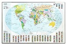 Idena 14012 – Sottomano, mappa del mondo, 68 x 44 cm, colore: trasparente