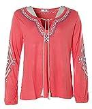 AJC Damen Tunika Langarm Shirt (36/38, Rot)