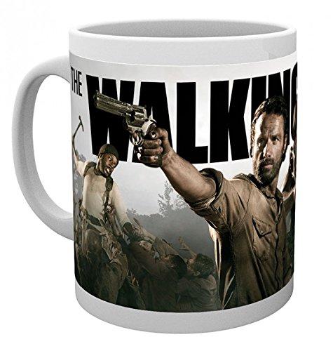 1art1 The Walking Dead, Rick Grimes Und Daryl Dixon Foto-Tasse Kaffeetasse (9x8 cm) Inklusive 1x Überraschungs-Sticker