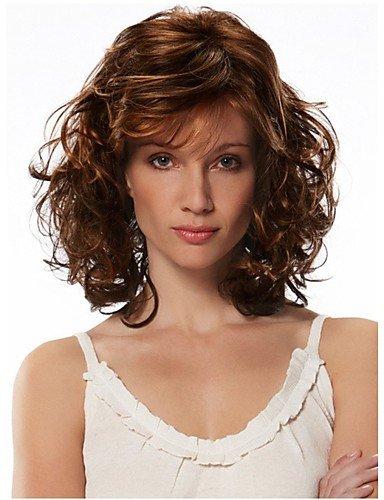 Perruque & xzl Perruques Fashion mode couleur de mélange de perruque de cheveux bouclés européen et américain