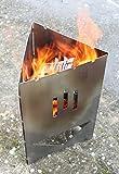 Thorwa Design Edelstahl Grill Schwedenfeuer Schaschlik Feuerkorb Metall Feuerstelle Feuerschale