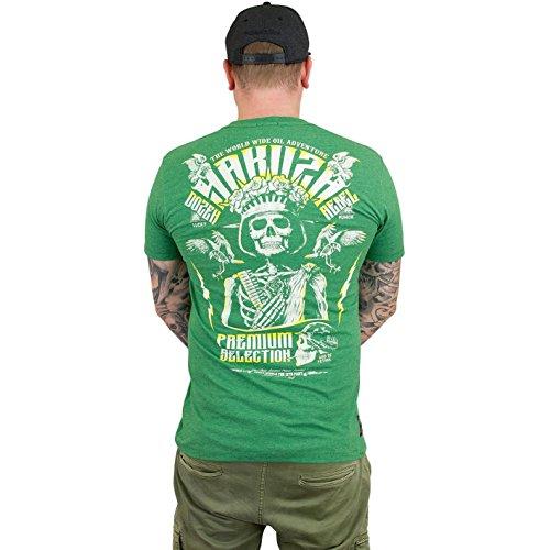 Yakuza Premium Herren T-Shirt YPS 2414 DOZEN REBLES BLACK Grün