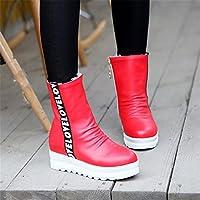 ZQ QX Le chef de l'automne et l'hiver la mode pour augmenter le débit d'eau du côté de forage court fermeture éclair bottes et souliers, bottes, noir, 39
