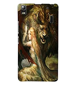 ColourCraft Angel and Protector Design Back Case Cover for LENOVO A7000