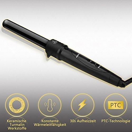 Lockenstab 5 in 1 LCD Keramikbeschichtung Multifunktions Austauschbare Lockenwickler Kit  von Elehot - 5