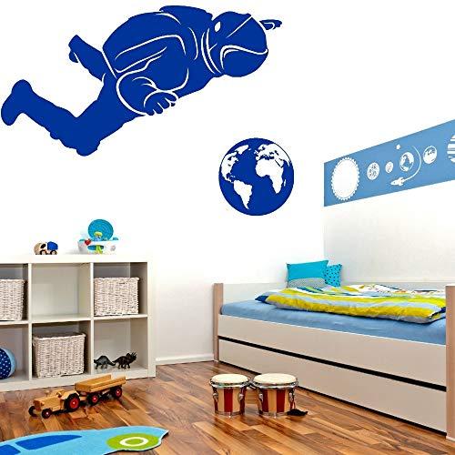 Kunst Design Astronaut Vinyl Wandaufkleber Hombre Espacio Wandbild Sport Serie Wandaufkleber Für Zu Hause Raumdekoration 57 * 30 cm