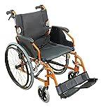 Aidapt Deluxe Fauteuil Roulant Auto-Propulsé Léger en Aluminium Orange