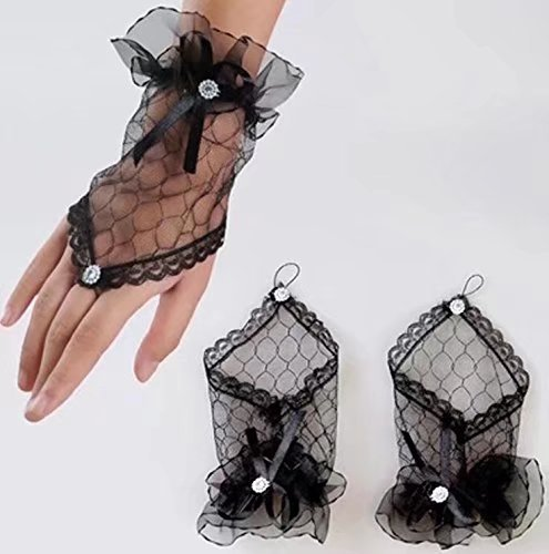 (Handstulpen und Perlen Hochzeit Braut Handschuhe Fingerlos)