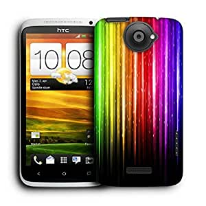 Snoogg Abstract Multicolor Design Printed Protective Phone Back Case Cover For HTC One X