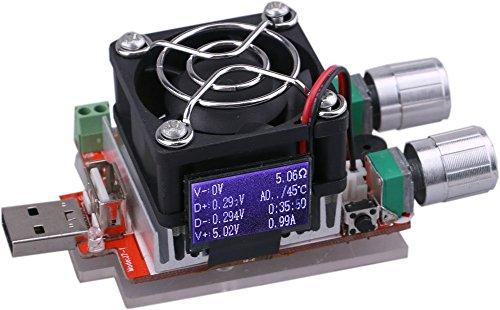 DC Yeeco 3-21V 3 A 35 W USB-funzione test per parrucchiere contanti costante corrente l'organico scarico con ventola per tensione corrente di prova per il test per scarico preventivi